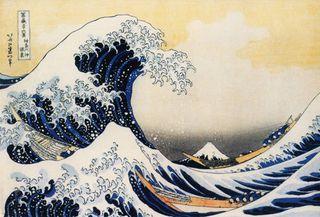 Katsushika Hokusai (1760-1849). kanagawa