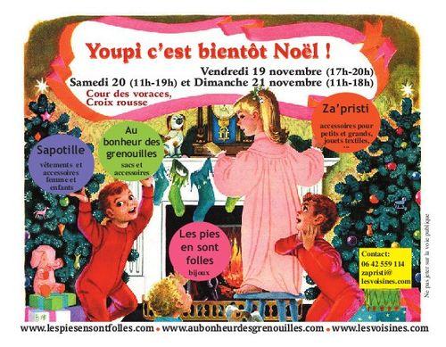 Carte postale-Noel-Lyon