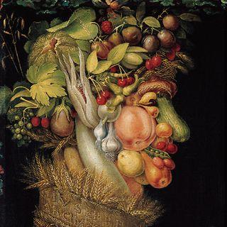 L'Eté peint en 1573 par Arcimboldo (1527-1593), et conservé au musée du Louvre.