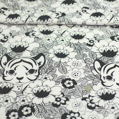 Tissu jersey tigre