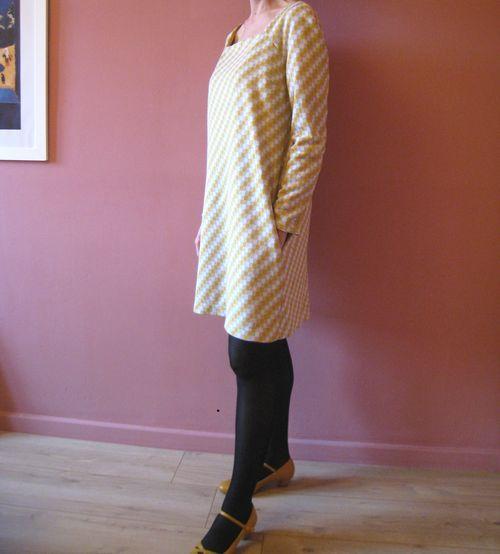Robe jaune grise 3-4
