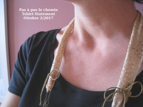 Pas à pas le chemin statement ottobre noir encolure