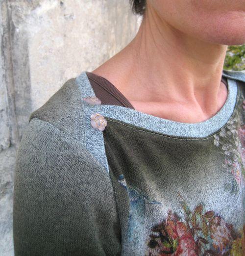 Tunique laine détail épaule