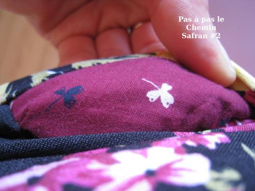 Pas à pas le chemin safran fleurs doublure poche